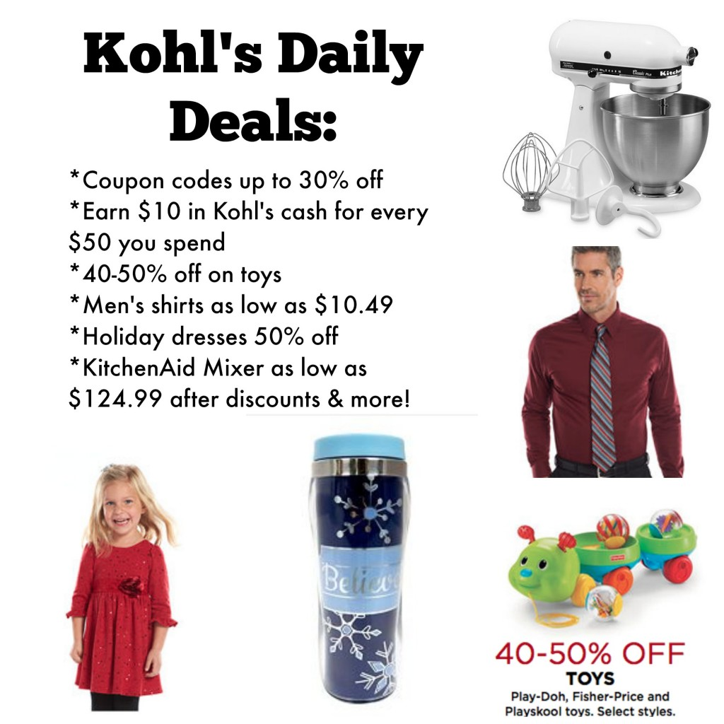 Kohls Daily Deals Holiday Dresses Toys KitchenAid Amp More