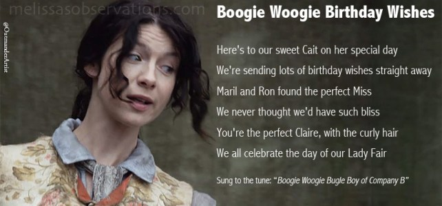 'Boogie Woogie Birthday Wishes to Caitriona Balfe' or 'The Singing Meme'