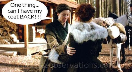 Who else can't wait for this week's #Outlander episode?!? In the meantime, stay snuggled up in your winter coat…or Claire's…..