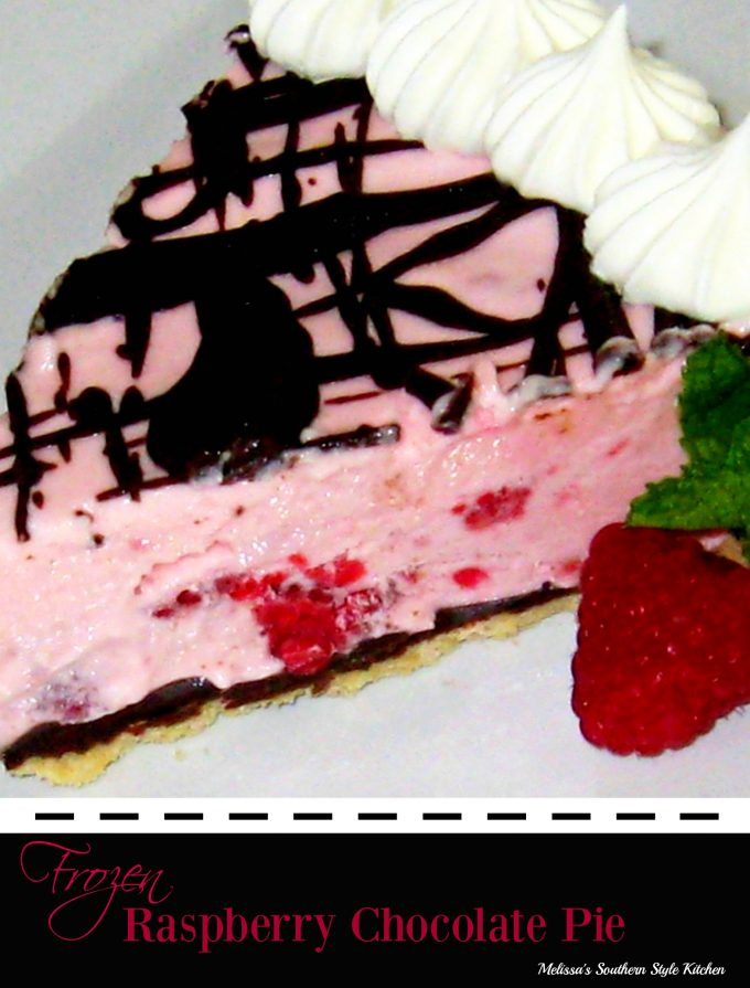 Frozen Raspberry Chocolate Pie