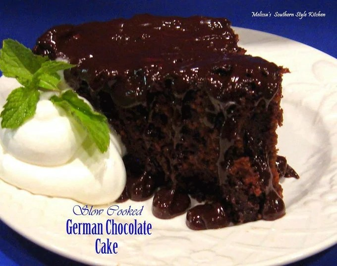 Slow Cooked German Chocolate Cake