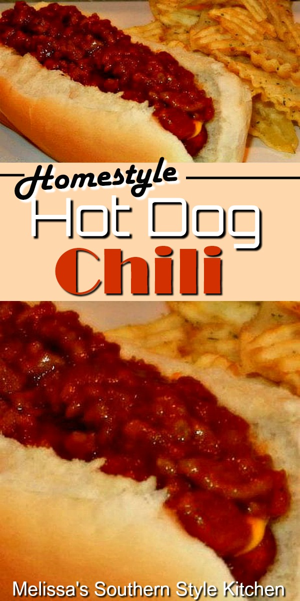 Homestyle Hot Dog Chili #chili #hotdogchili #chilisauce #grilled #hotdogs #homestylechili #dinner #dinnerideas #food #recipes #southernfood #southernrecipes