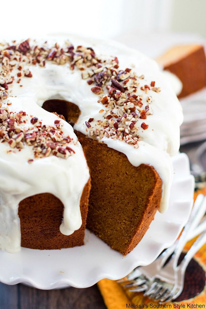 Pumpkin Spice Cream Cheese Pound Cake