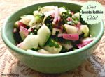 Sweet Cucumber And Red Onion Salad