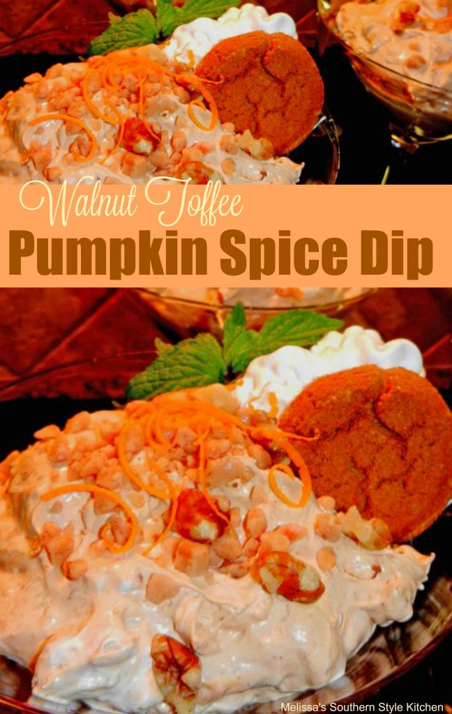 Walnut Toffee Pumpkin Spice Dip