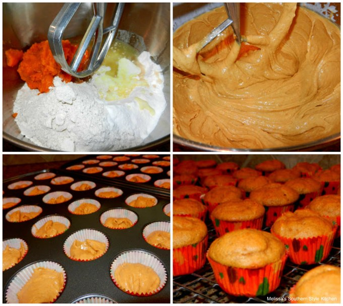 step-by-step images how to make mini pumpkin cupcakes