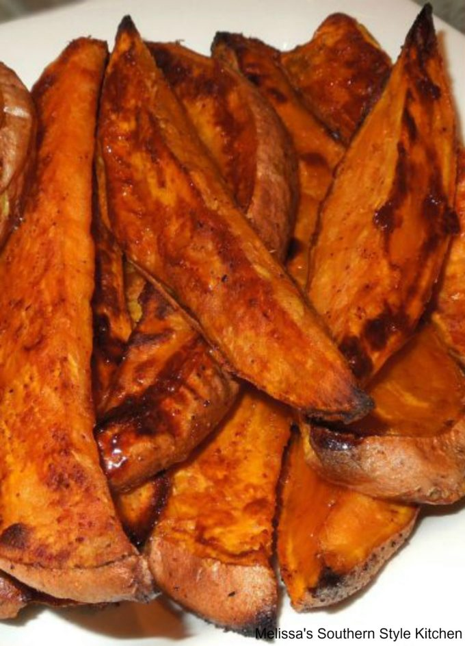sweet potato fries on a plate