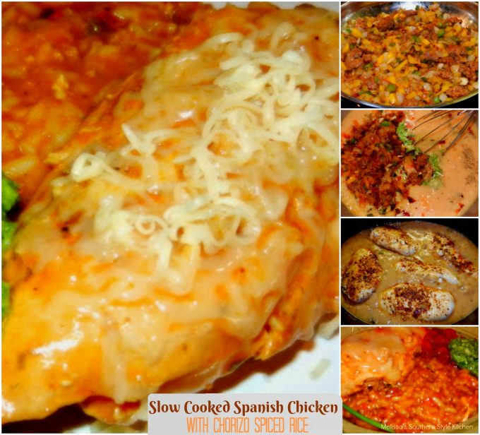 Slow Cooked Spanish Chicken With Chorizo Spiced Rice