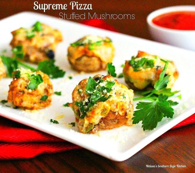 Supreme Pizza Stuffed Mushrooms