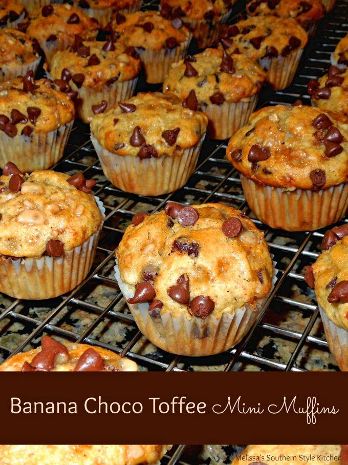 Banana Choco-Toffee Mini Muffins