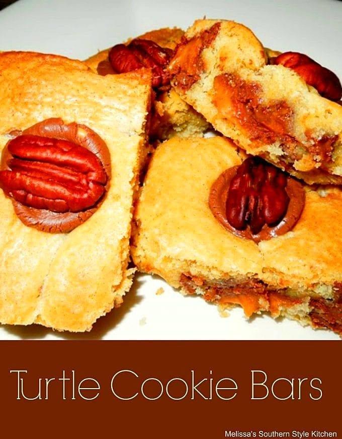 Turtle Cookie Bars