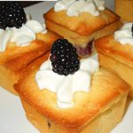 Blackberries And Cream Mini Pound Cakes