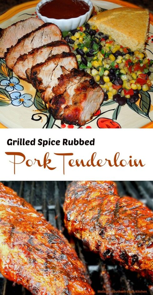 Grilled Spice Rubbed Pork Tenderloin