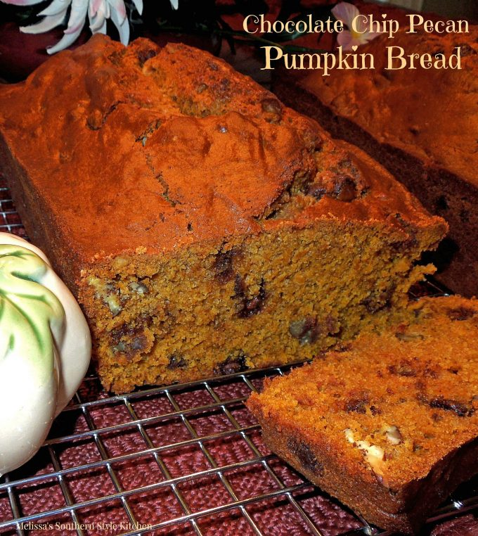 Chocolate Chip Pecan Pumpkin Bread