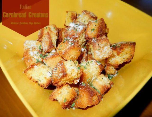 Italian Cornbread Croutons