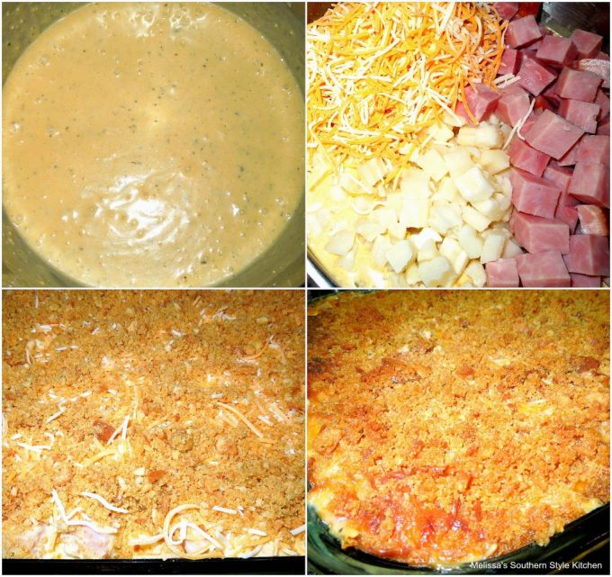 Cheddar And Ham Au Gratin Potatoes