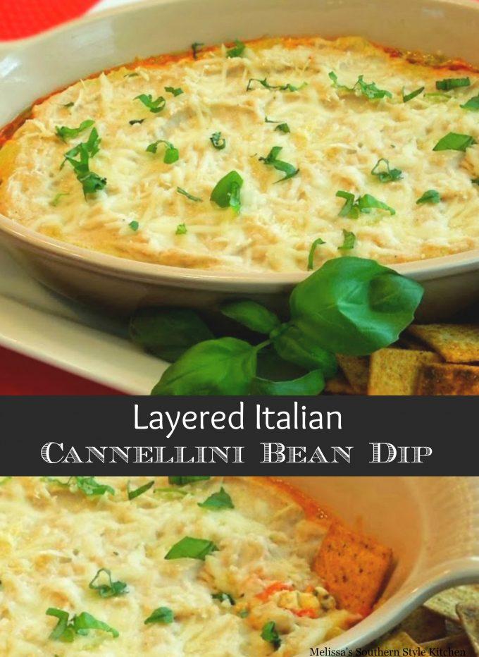 Layered Italian Cannellini Bean Dip