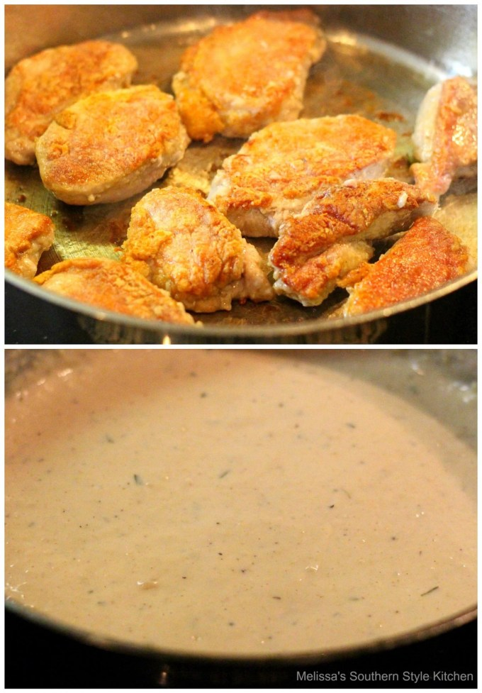 step-by-step images how to prepare fried pork and gravy