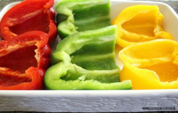 Sweet Tomato Glazed Stuffed Bell Peppers