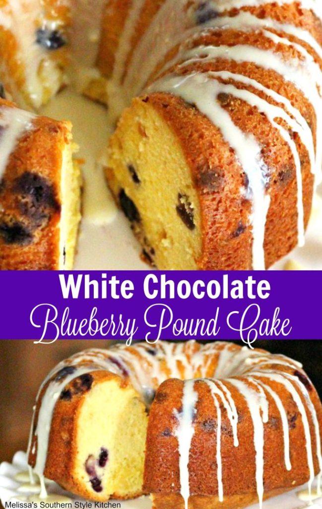 White Chocolate Blueberry Pound Cake