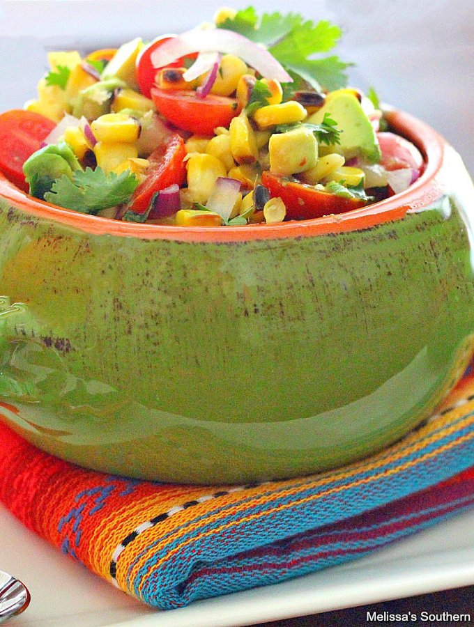 Grilled Corn Salad with Tomatoes and Avocado