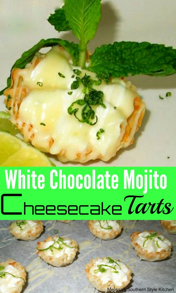 White Chocolate Mojito Cheesecake Tarts