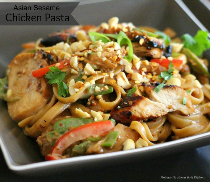 Asian Sesame Chicken Pasta