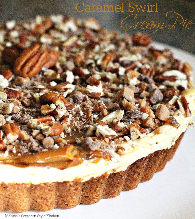 Caramel Swirl Cream Pie