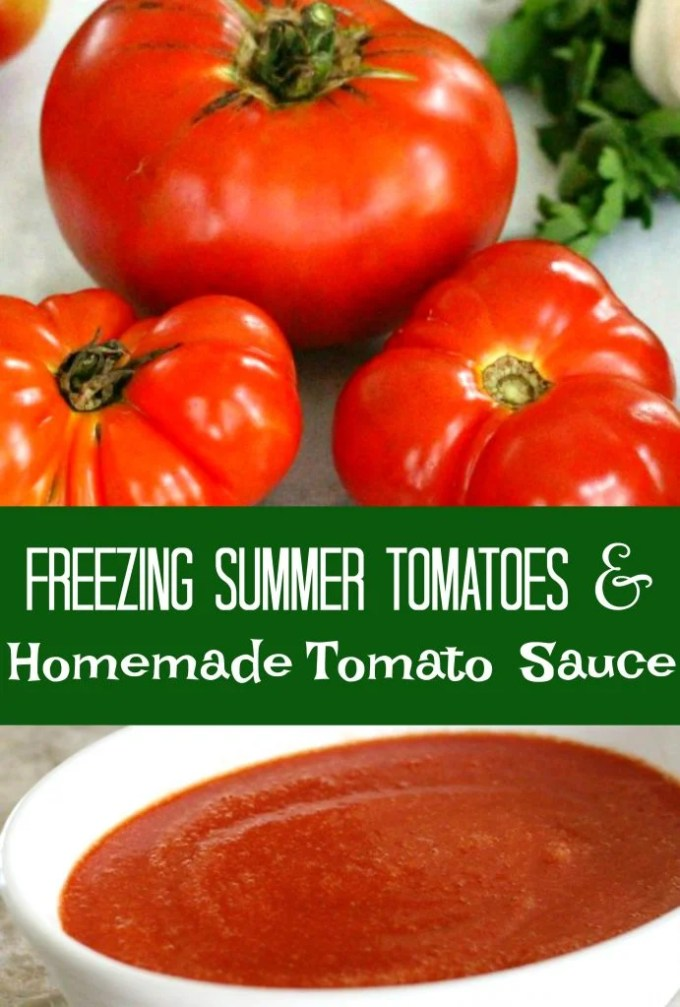 Freezing Summer Tomatoes And Homemade Tomato Sauce