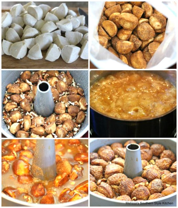 Praline Pecan Monkey Bread Using Rhodes Frozen Yeast Rolls