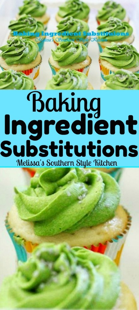 Common Baking Ingredient Substitutions