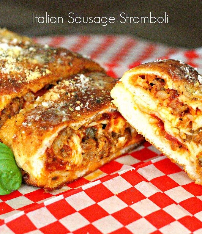 Baked Italian Sausage Stromboli