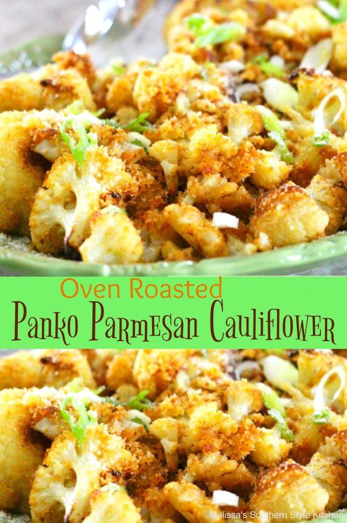 Oven Roasted Panko-Parmesan Cauliflower