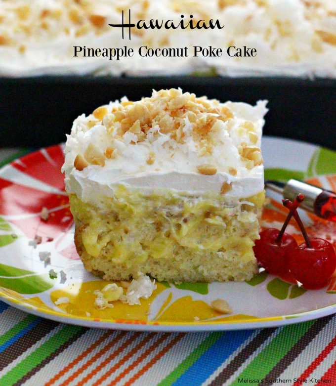 Hawaiian Pineapple Coconut Poke Cake