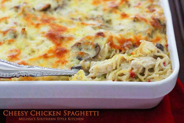 Cheesy Chicken Spaghetti