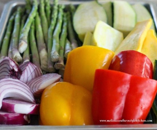 Grilled Vegetable Salad with an Apple Cider-Honey Vinaigrette