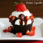 Strawberry Shortcake Brownie Cupcakes