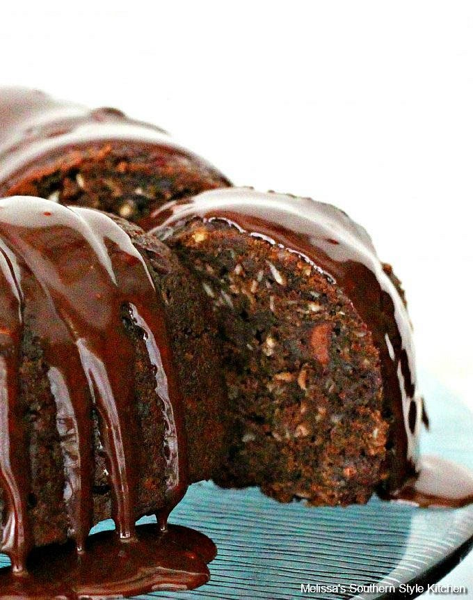 Double Chocolate Zucchini Cake with Coconut