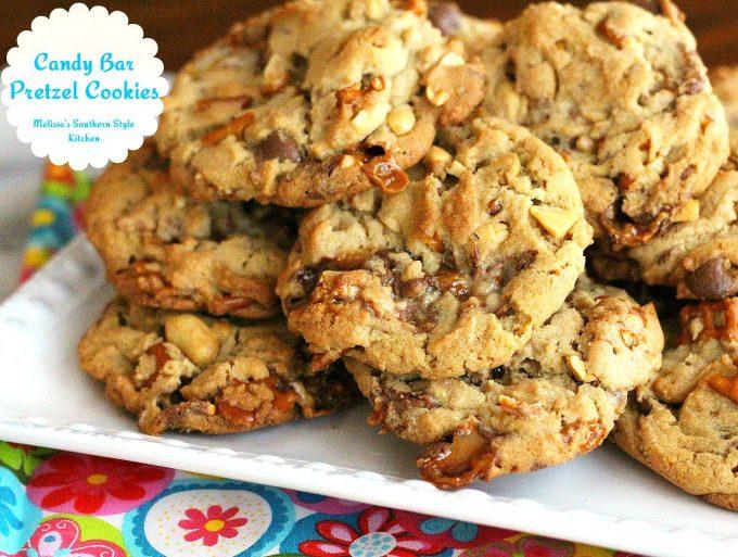 Candy Bar Pretzel Cookies