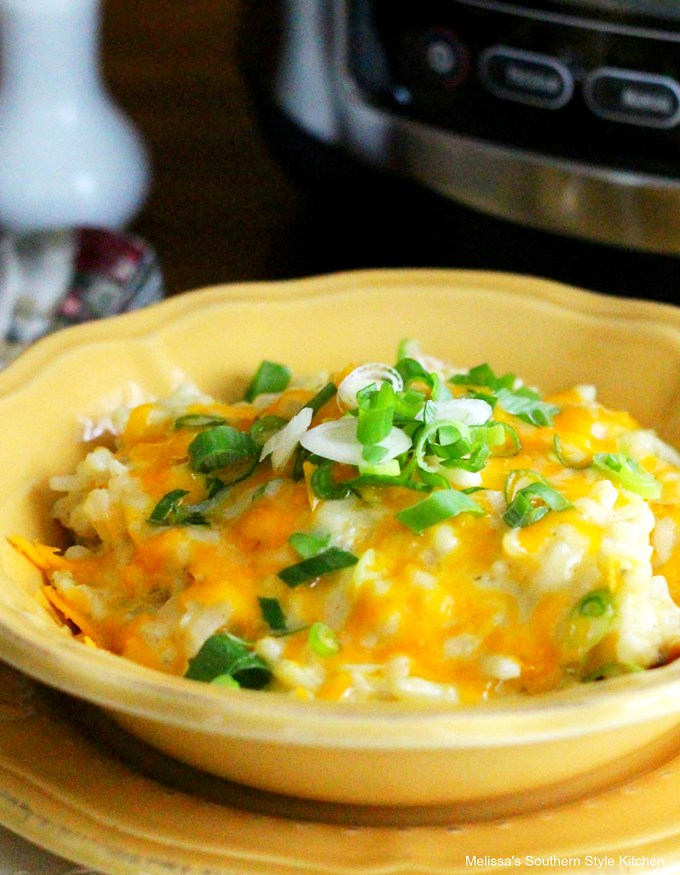 Slow Cooked Cheesy Ranch Potatoes in a bowl