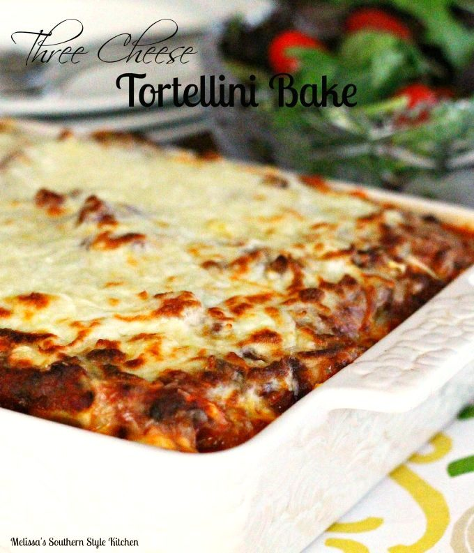 Three Cheese Tortellini Bake
