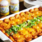 Barbecue Beef Tater Tot Casserole
