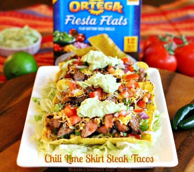 Chili Lime Skirt Steak Tacos With Avocado Cream
