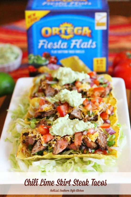 Chili Lime Skirt Steak Tacos With Avocado Cream