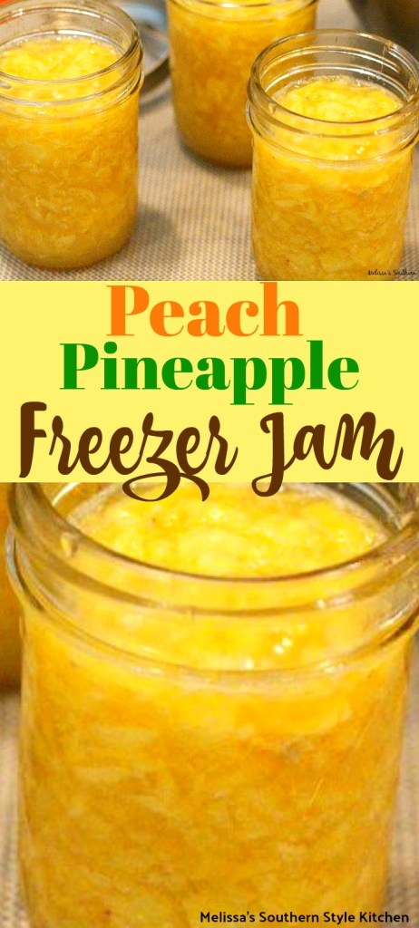 Peach Pineapple Freezer Jam
