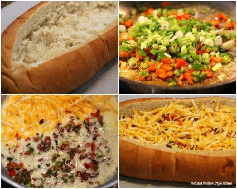 Baked Bacon Egg And Cheese Bread Boat