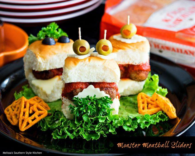Monster Meatball Sliders