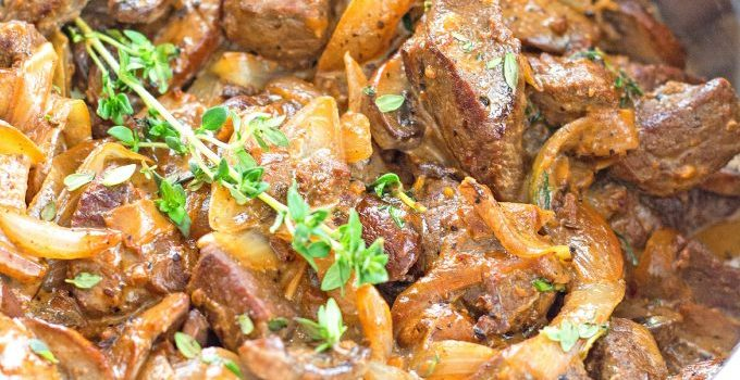 Smothered Steak Tips With Creamy Mushrooms And Onions