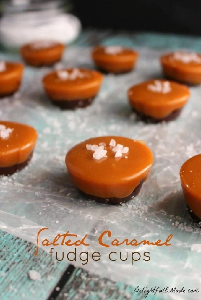 Salted Caramel Fudge Cups