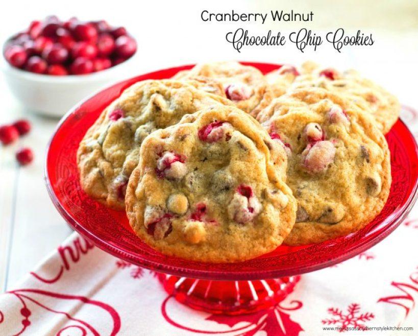 Cranberry Walnut Chocolate Chip Cookies
